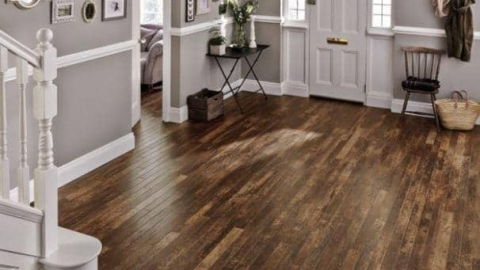 Wooden flooring entrance hall