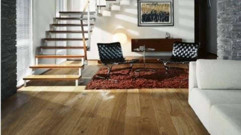 Wooden flooring living room