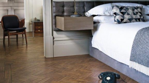 Amtico Signature Dry Teak in Herringbone Laying Pattern